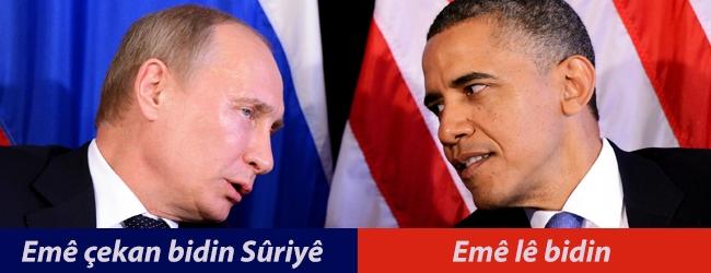 Pûtîn: Emê çekan bidin Sûriyê, obama:Emê lê bidin