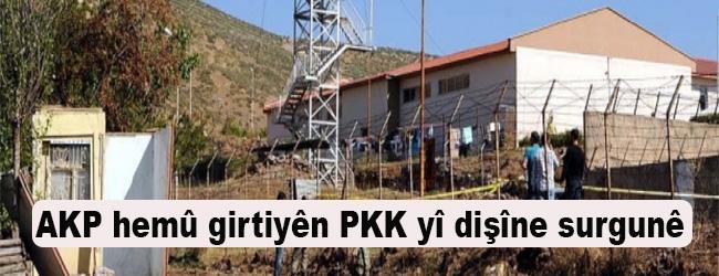 AKP hemû gitiyên PKK  yî dişîne surgunê