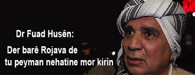 Dr Fuad Husên: Der barê Rojava de tu peyman nehatine mor kirin
