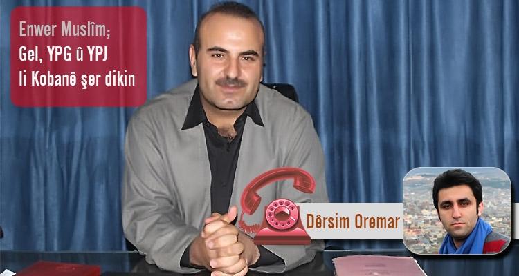Enwer Muslîm; Gel, YPG û YPJ li Kobanê şer dikin