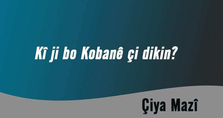 Kî ji bo Kobanê çi dikin?