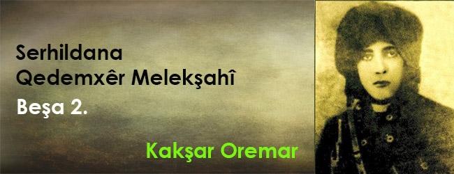 Serhildana Qedemxêr Melekşahî beşa duyem